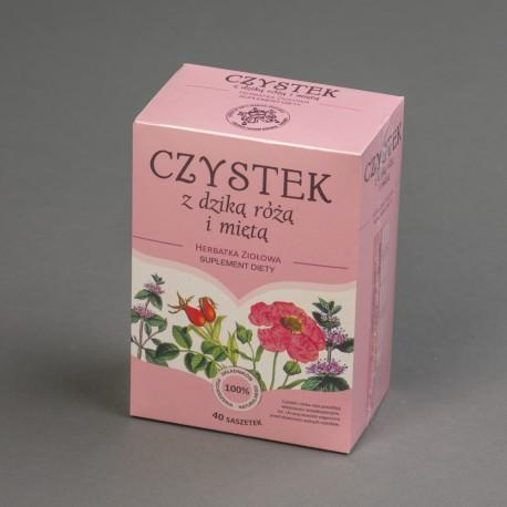 Herbatka ziołowa Czystek z dziką różą i miętą