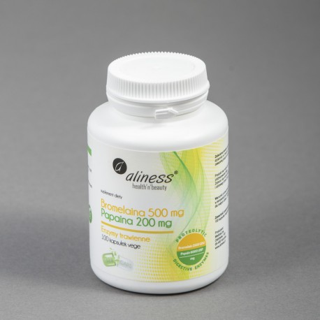 Bromelaina 500mg Papaina 200mg (enzymy trawienne)