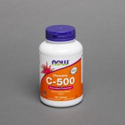 C - 500 do ssania wiśniowe 100 tabl.